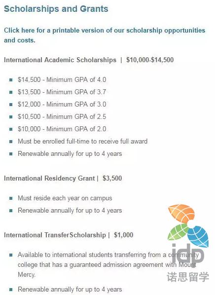 2017-2018美国大学奖学金项目汇总